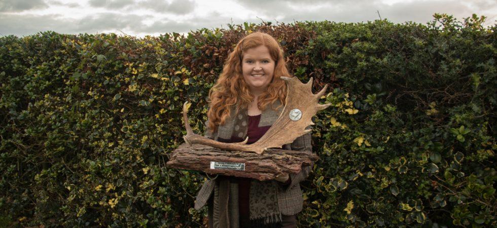 Vanessa with her trophy